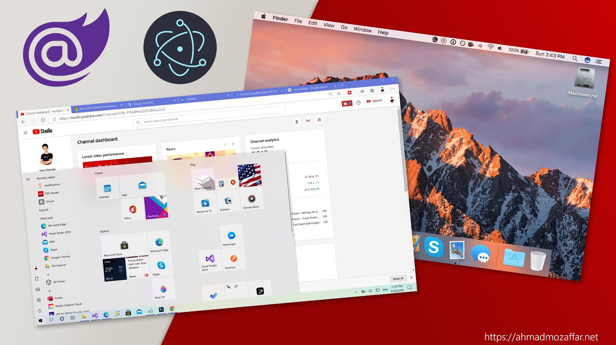 Develop desktop apps with Blazor & Electron.NET